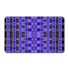 Blue Black Geometric Pattern Magnet (rectangular) by BrightVibesDesign