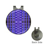 Blue Black Geometric Pattern Hat Clips with Golf Markers