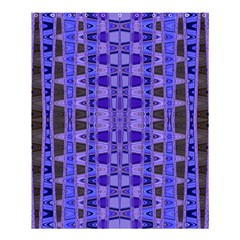 Blue Black Geometric Pattern Shower Curtain 60  X 72  (medium)  by BrightVibesDesign