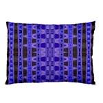 Blue Black Geometric Pattern Pillow Case (Two Sides)
