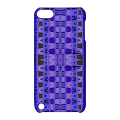 Blue Black Geometric Pattern Apple Ipod Touch 5 Hardshell Case With Stand by BrightVibesDesign