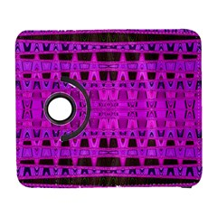 Bright Pink Black Geometric Pattern Samsung Galaxy S  III Flip 360 Case by BrightVibesDesign