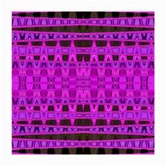 Bright Pink Black Geometric Pattern Medium Glasses Cloth by BrightVibesDesign