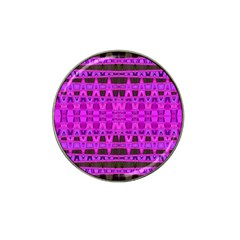 Bright Pink Black Geometric Pattern Hat Clip Ball Marker by BrightVibesDesign