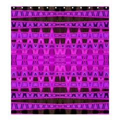 Bright Pink Black Geometric Pattern Shower Curtain 66  X 72  (large)  by BrightVibesDesign