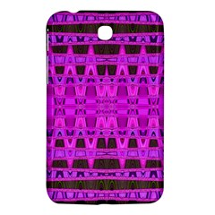 Bright Pink Black Geometric Pattern Samsung Galaxy Tab 3 (7 ) P3200 Hardshell Case  by BrightVibesDesign