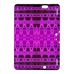 Bright Pink Black Geometric Pattern Kindle Fire Hdx 8 9  Hardshell Case by BrightVibesDesign