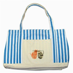 Two Lovely Cats   Striped Blue Tote Bag by TastefulDesigns