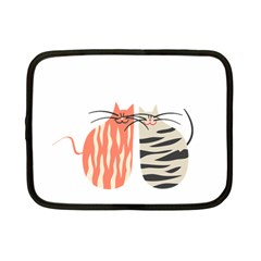 Two Lovely Cats   Netbook Case (small)  by TastefulDesigns