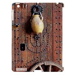 Oriental Wooden Rustic Door  Apple Ipad 3/4 Hardshell Case (compatible With Smart Cover) by TastefulDesigns