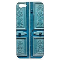 Turquoise Oriental Old Door Apple Iphone 5 Hardshell Case by TastefulDesigns