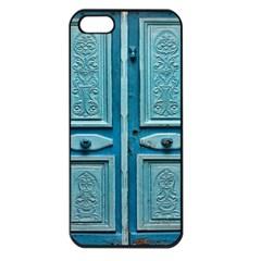 Turquoise Oriental Old Door Apple Iphone 5 Seamless Case (black) by TastefulDesigns
