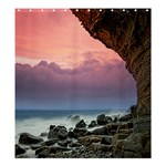 SEASIDE CAVE :  Shower Curtain Template Preset formatted for Product: Shower Curtain - Shower Curtain 66  x 72  (Large)