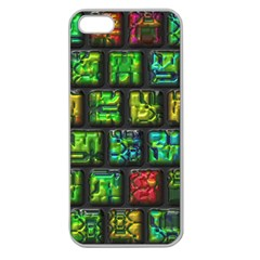 Colorful Buttons               apple Seamless Iphone 5 Case (clear) by LalyLauraFLM