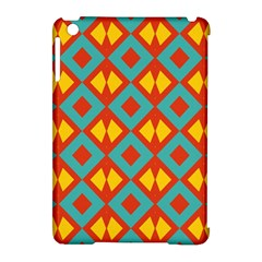 Blue Rhombus Pattern                apple Ipad Mini Hardshell Case (compatible With Smart Cover) by LalyLauraFLM