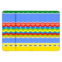 Colorful Chevrons And Waves                 			samsung Galaxy Tab 8 9  P7300 Flip Case by LalyLauraFLM