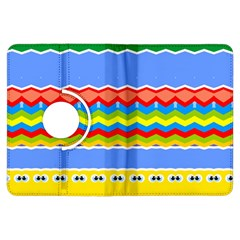 Colorful Chevrons And Waves                 			kindle Fire Hdx Flip 360 Case by LalyLauraFLM