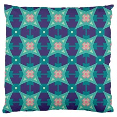Blue Stars Pattern                  	large Flano Cushion Case (two Sides) by LalyLauraFLM