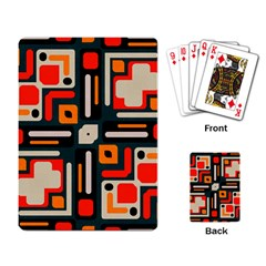Shapes In Retro Colors Texture                   			playing Cards Single Design by LalyLauraFLM