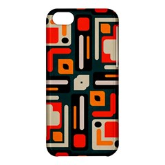 Shapes In Retro Colors Texture                   			apple Iphone 5c Hardshell Case by LalyLauraFLM