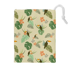 Tropical Garden Pattern Drawstring Pouches (extra Large) by TastefulDesigns