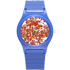 Vivid Floral Collage Round Plastic Sport Watch (s) by dflcprints