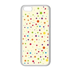 Colorful Dots Pattern Apple Iphone 5c Seamless Case (white) by TastefulDesigns
