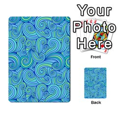 Abstract Blue Wave Pattern Multi Purpose Cards (rectangle)  by TastefulDesigns