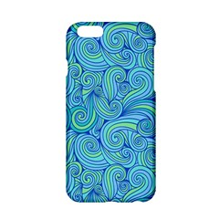 Abstract Blue Wave Pattern Apple Iphone 6/6s Hardshell Case by TastefulDesigns