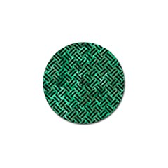 Woven2 Black Marble & Green Marble (r) Golf Ball Marker (10 Pack) by trendistuff
