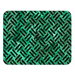 Woven2 Black Marble & Green Marble (r) Double Sided Flano Blanket (large) by trendistuff