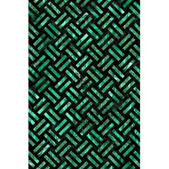 Woven2 Black Marble & Green Marble 5 5  X 8 5  Notebook by trendistuff