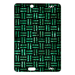 Woven1 Black Marble & Green Marble Amazon Kindle Fire Hd (2013) Hardshell Case by trendistuff