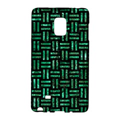 Woven1 Black Marble & Green Marble Samsung Galaxy Note Edge Hardshell Case by trendistuff