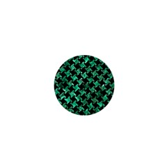Houndstooth2 Black Marble & Green Marble 1  Mini Magnet by trendistuff