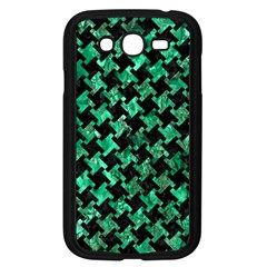 Houndstooth2 Black Marble & Green Marble Samsung Galaxy Grand Duos I9082 Case (black) by trendistuff