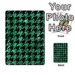 Houndstooth1 Black Marble & Green Marble Multi Purpose Cards (rectangle) by trendistuff