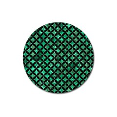 Circles3 Black Marble & Green Marble (r) Magnet 3  (round) by trendistuff