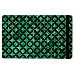 Circles3 Black Marble & Green Marble (r) Apple Ipad 2 Flip Case by trendistuff