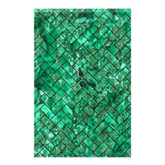 Brick2 Black Marble & Green Marble (r) Shower Curtain 48  X 72  (small) by trendistuff