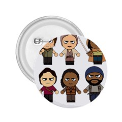 The Walking Dead   Main Characters Chibi   Amc Walking Dead   Manga Dead 2 25  Buttons by PTsImaginarium