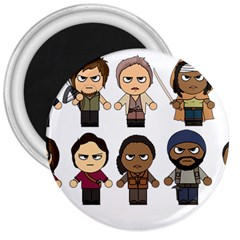 The Walking Dead   Main Characters Chibi   Amc Walking Dead   Manga Dead 3  Magnets by PTsImaginarium