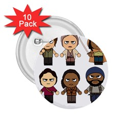 The Walking Dead   Main Characters Chibi   Amc Walking Dead   Manga Dead 2 25  Buttons (10 Pack)  by PTsImaginarium