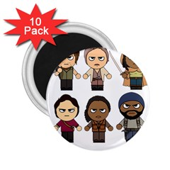 The Walking Dead   Main Characters Chibi   Amc Walking Dead   Manga Dead 2 25  Magnets (10 Pack)  by PTsImaginarium