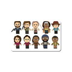 The Walking Dead   Main Characters Chibi   Amc Walking Dead   Manga Dead Magnet (name Card) by PTsImaginarium
