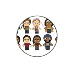 The Walking Dead   Main Characters Chibi   Amc Walking Dead   Manga Dead Hat Clip Ball Marker by PTsImaginarium