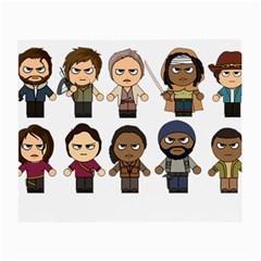 The Walking Dead   Main Characters Chibi   Amc Walking Dead   Manga Dead Small Glasses Cloth by PTsImaginarium
