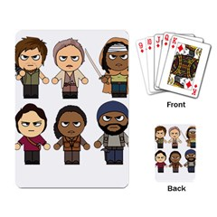 The Walking Dead   Main Characters Chibi   Amc Walking Dead   Manga Dead Playing Card by PTsImaginarium