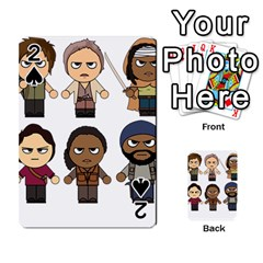The Walking Dead   Main Characters Chibi   Amc Walking Dead   Manga Dead Playing Cards 54 Designs  by PTsImaginarium