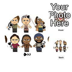 The Walking Dead   Main Characters Chibi   Amc Walking Dead   Manga Dead Playing Cards 54 (round)  by PTsImaginarium